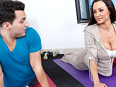 Lisa Ann is a  yoga instructor Friend has a student that isn't keeping up with the regimen. When he gets to her place, Lisa can see he hasn't been stretching or working on his breathing. But just because he can't pose in downward facing dog  doesn't mean